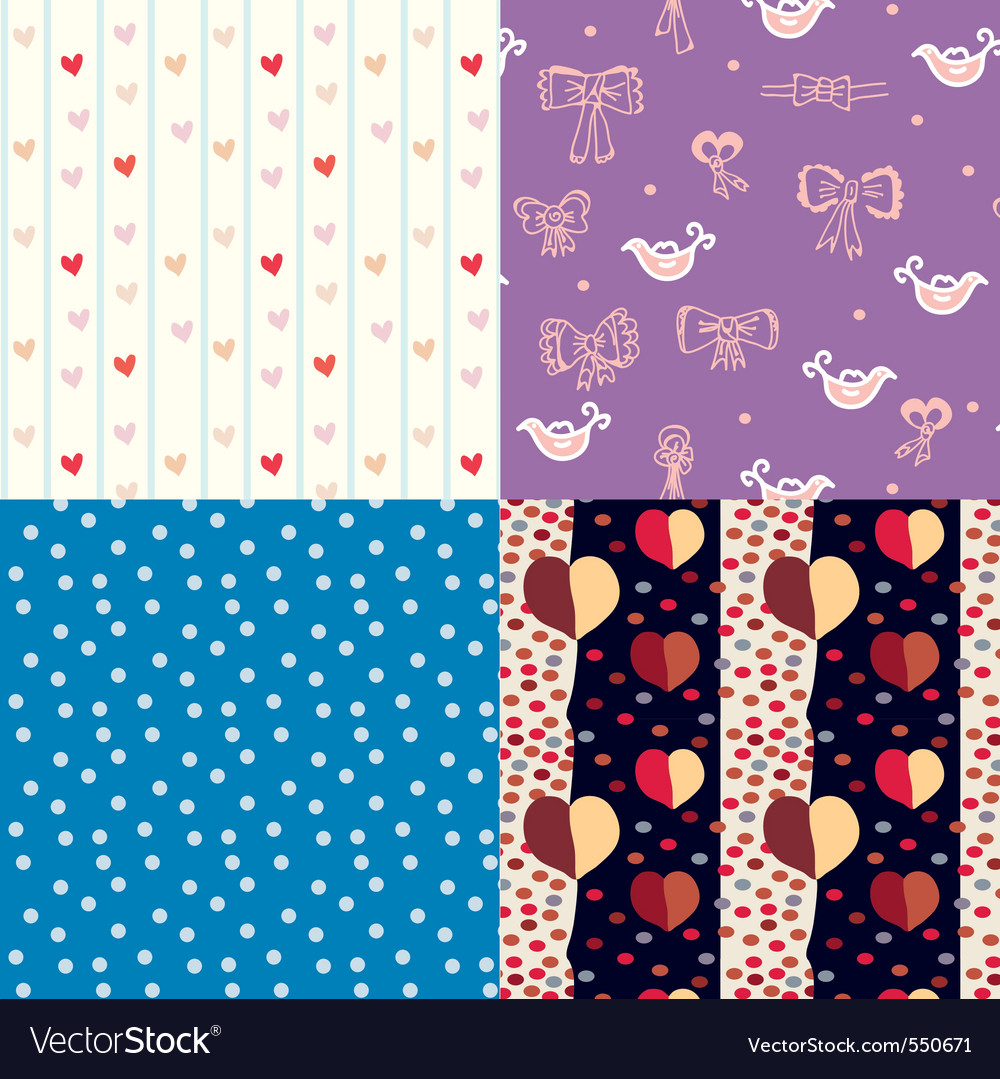 Pattern for kids vector