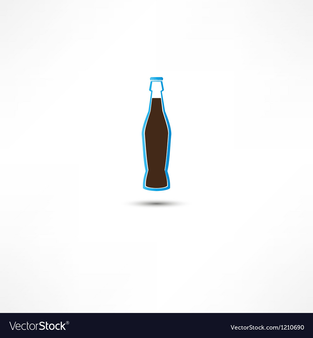 Bottle with cola icon vector