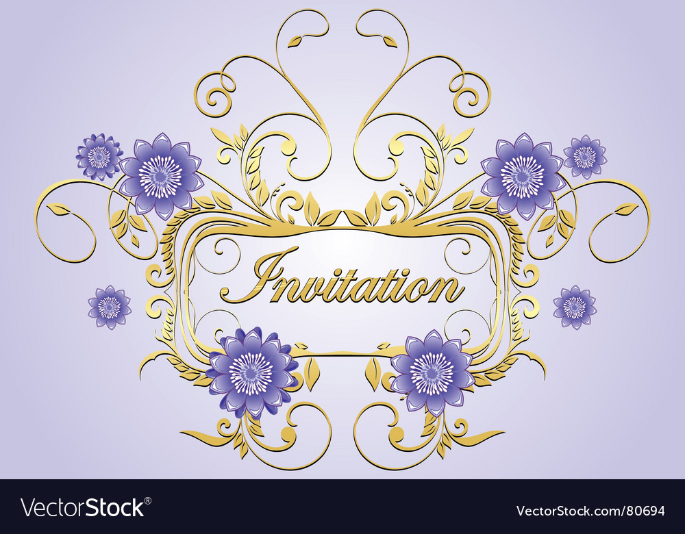 Free invitation vector