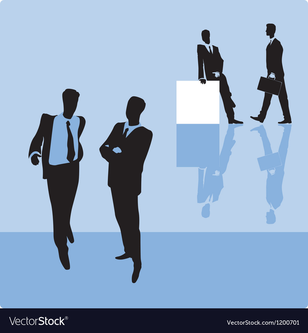 Businessmen on blue background vector