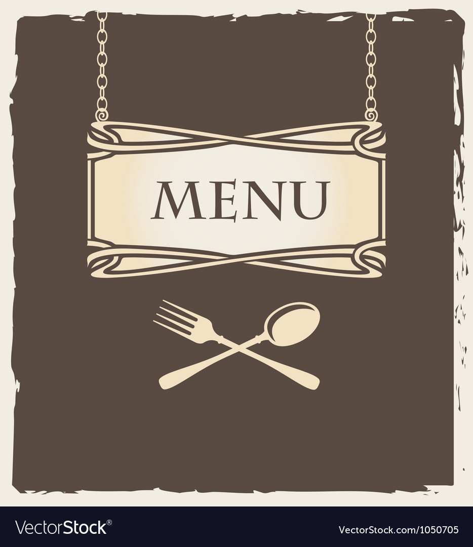 Spoon menu vector