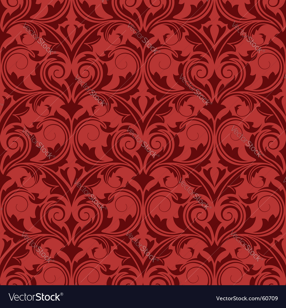 Red seamless wallpaper vector