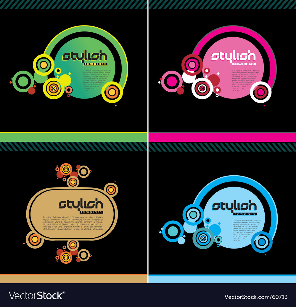 Stylish templates vector