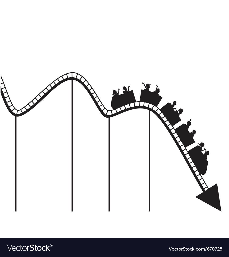Roller coaster graph vector