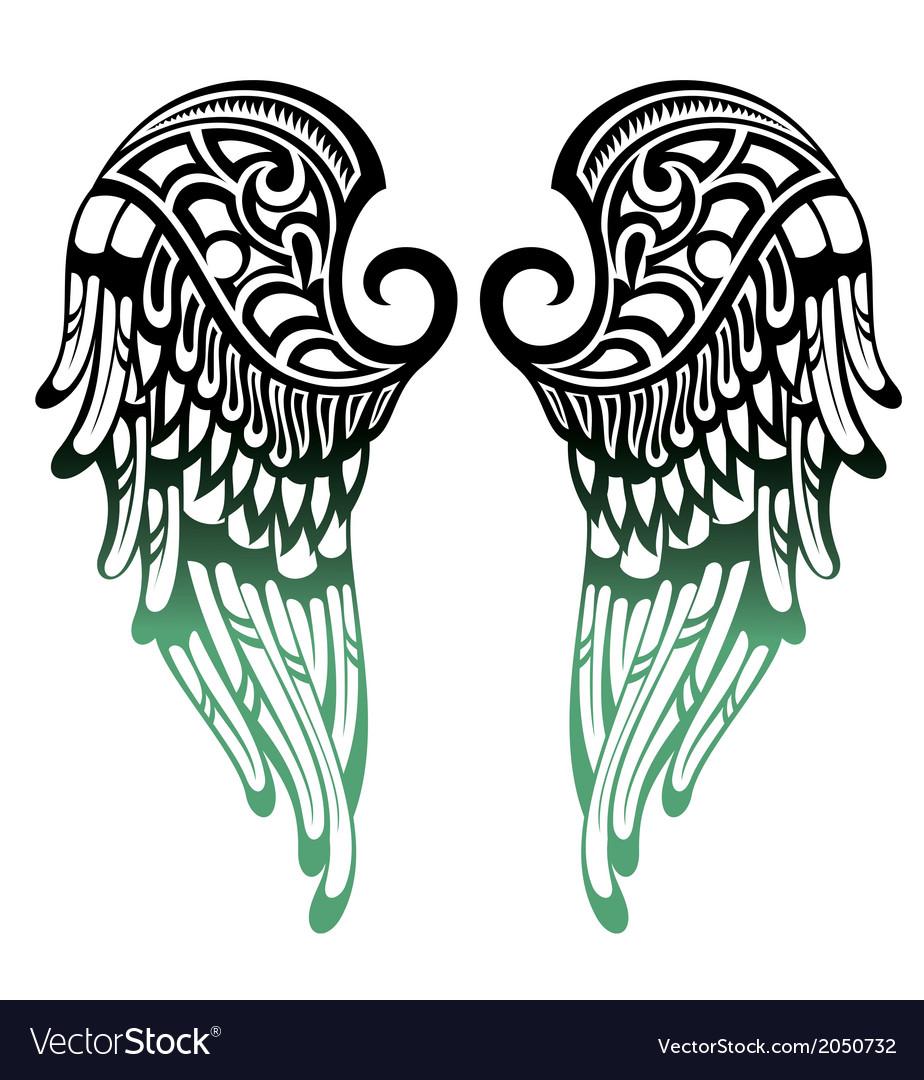 Angel wings vector by galina - Image #2050732 - VectorStock Eagle Silhouette Vector