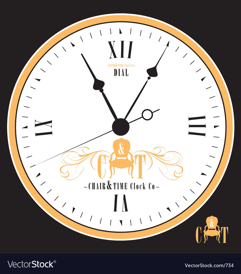 Free vintage clock face vector