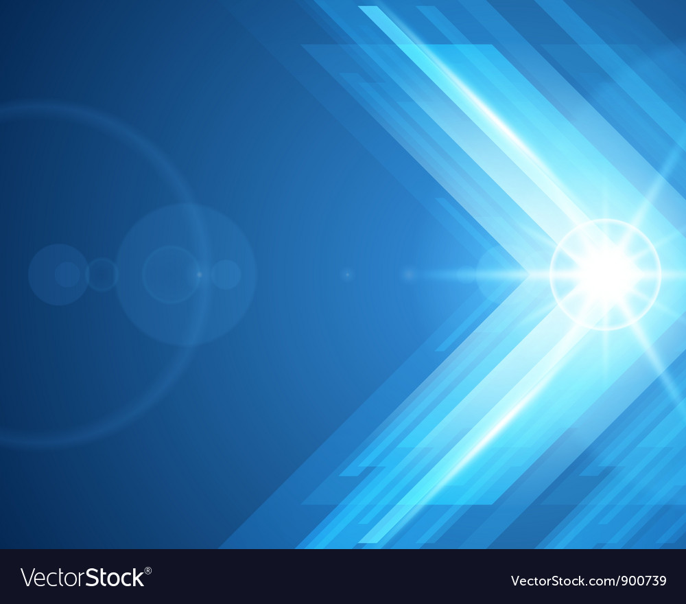 Abstract 3d technology lines with light background vector