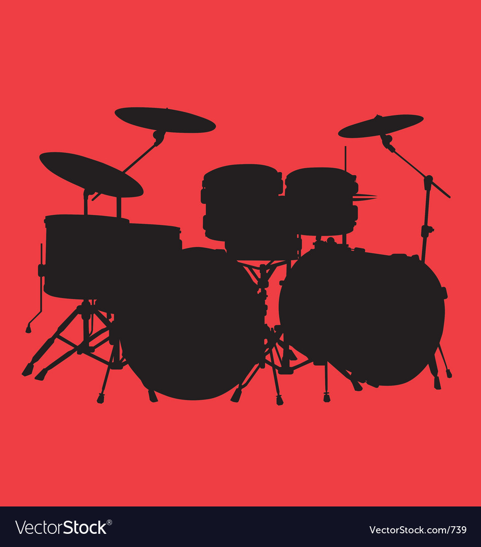 Free drum kit vector