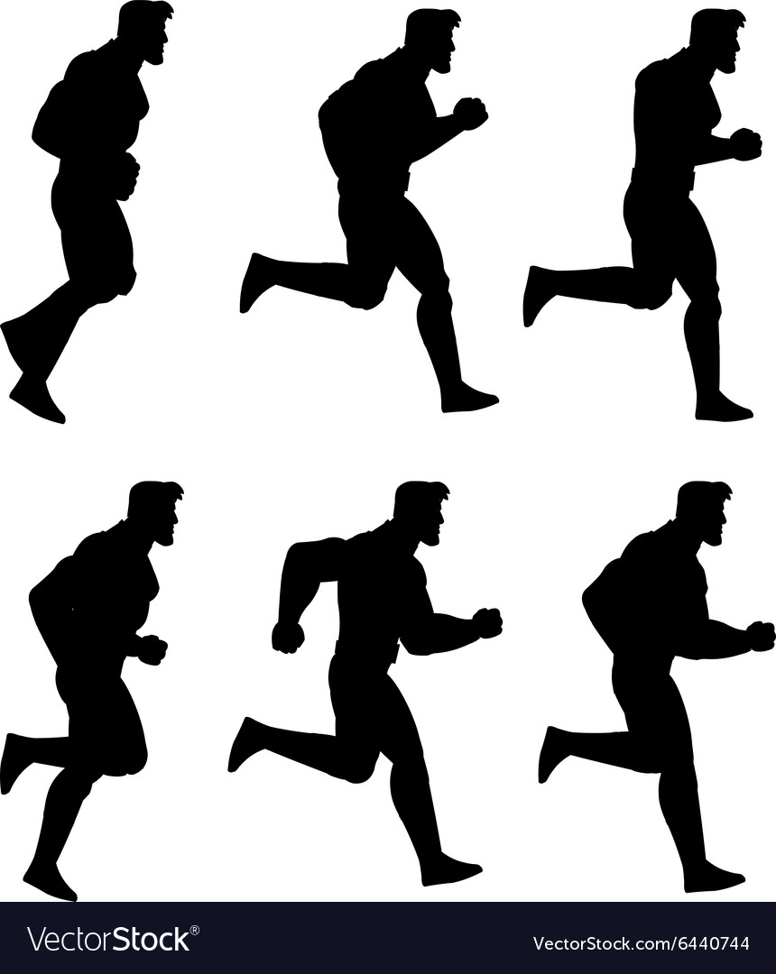 Running man silhouette animation sprite vector by gaguproject image