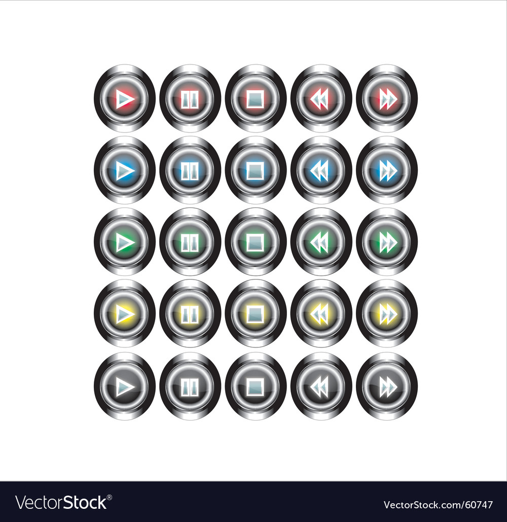 Free metal buttons vector