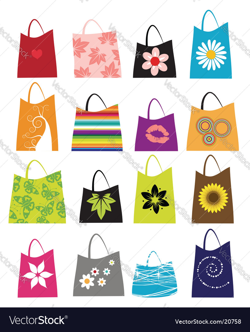 Fashion women bags vector