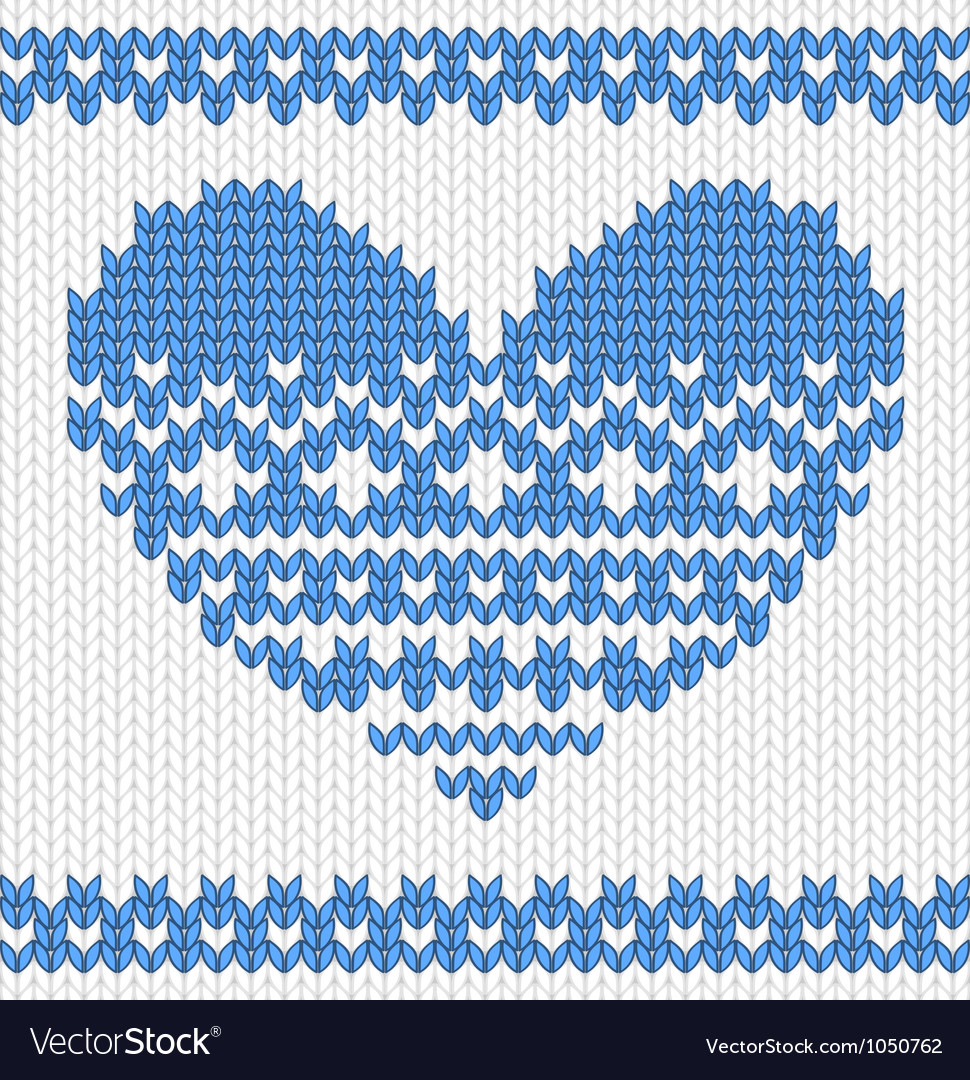 Free knitted heart vector