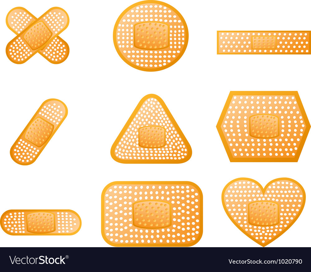 Medical first aid plaster vector