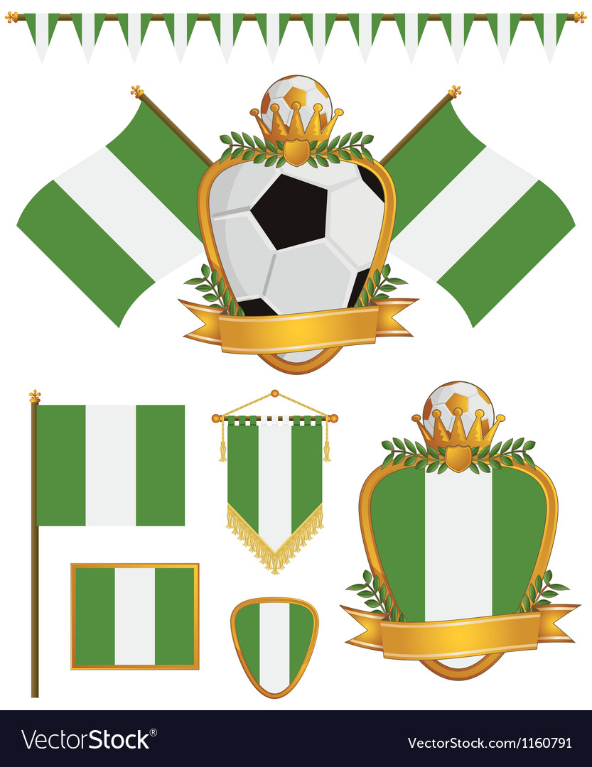 Nigeria flags vector