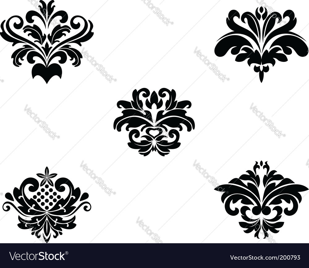 Flower patterns and borders vector