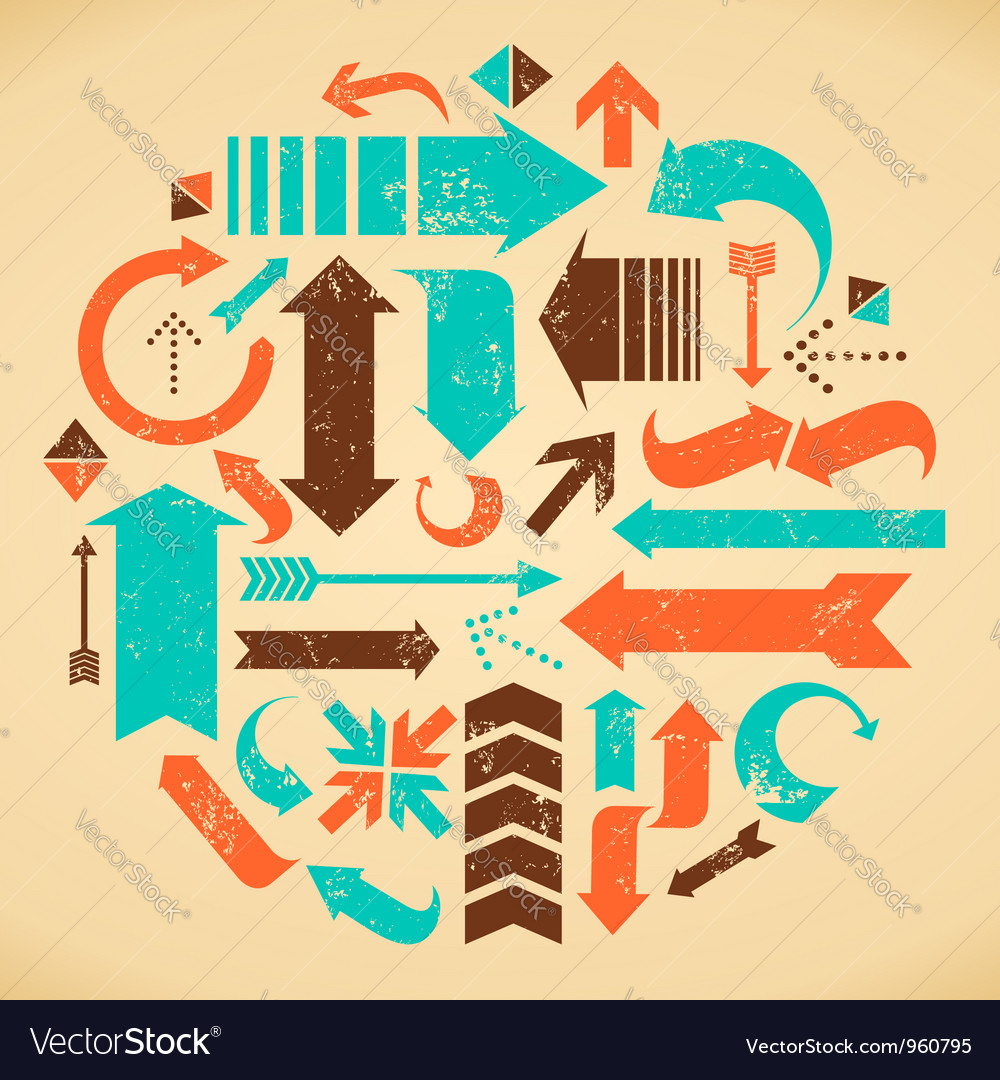 Arrows collection vector