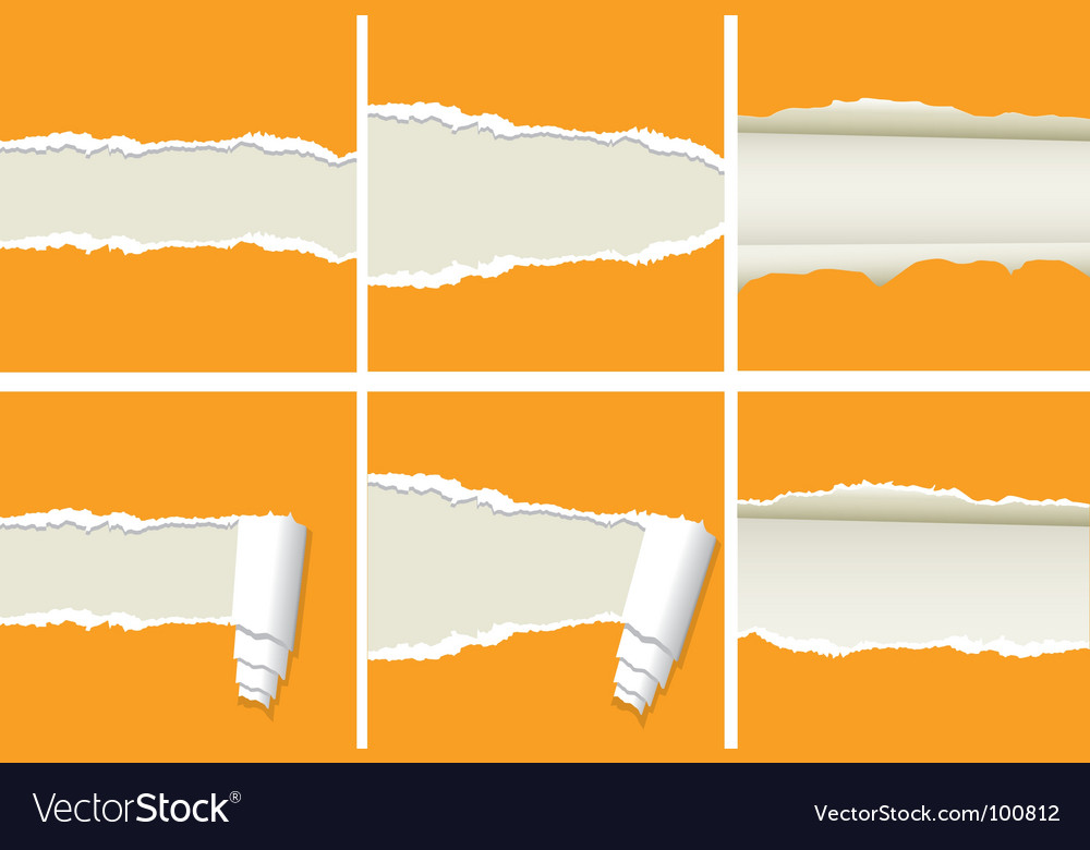 Ripped papers vector