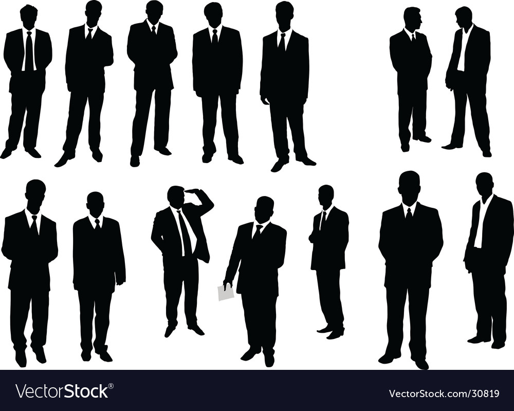 Collection of businessman vector
