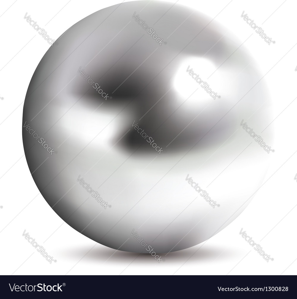 Photorealistic chrome ball vector