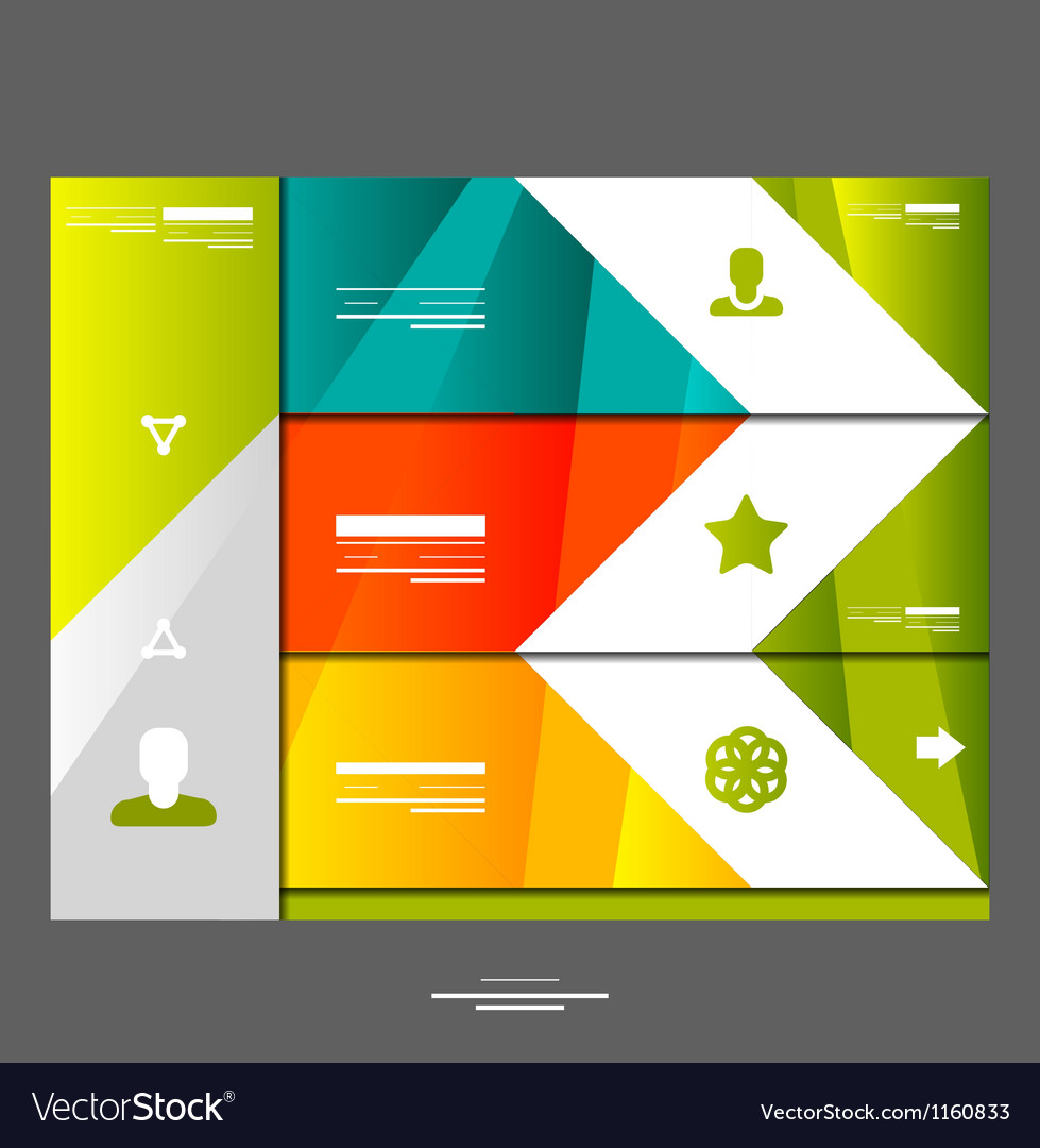 Infographic banner design elements vector