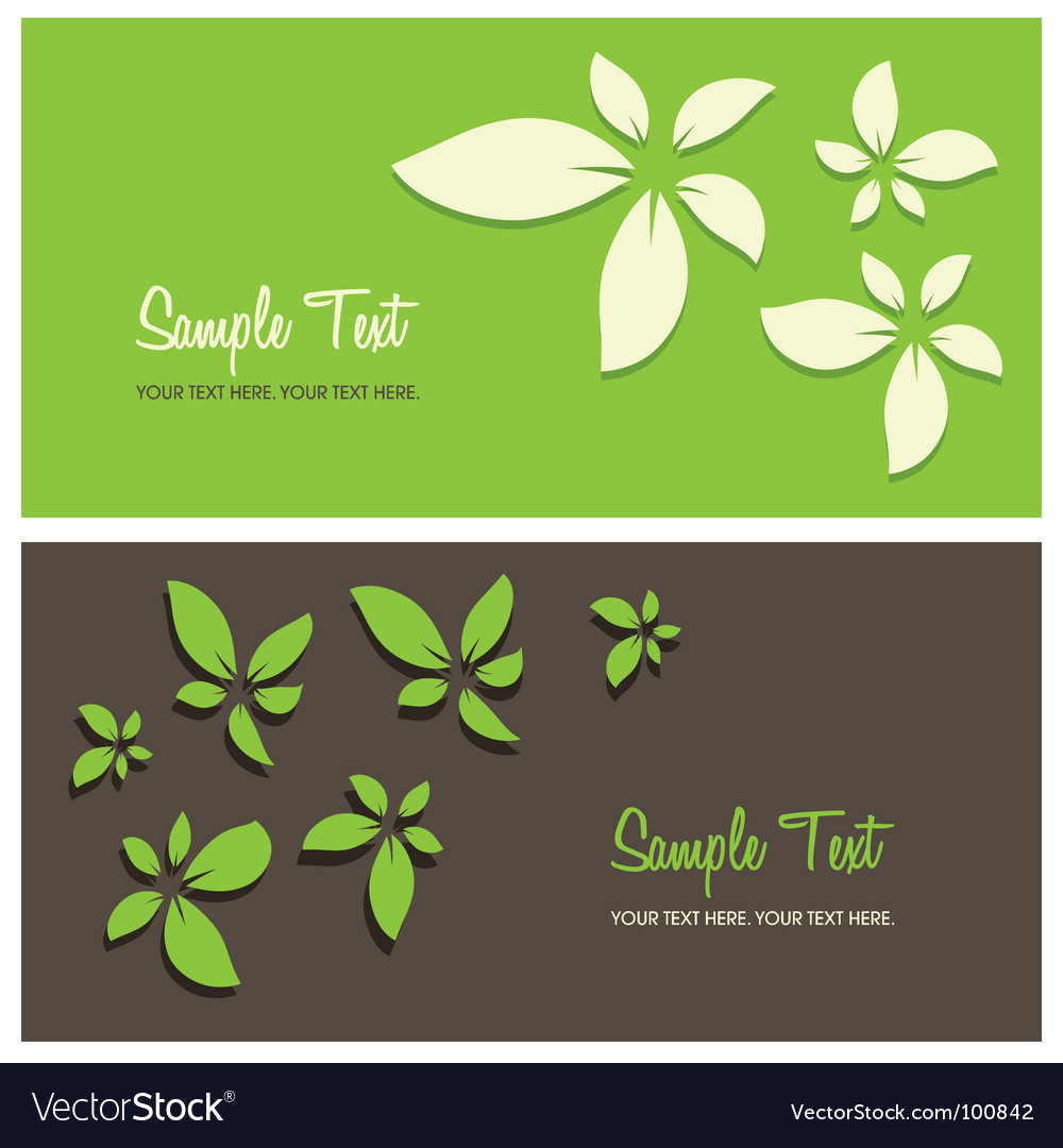 Floral card background vector