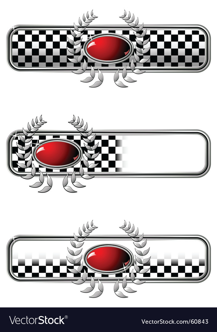Race badges vector