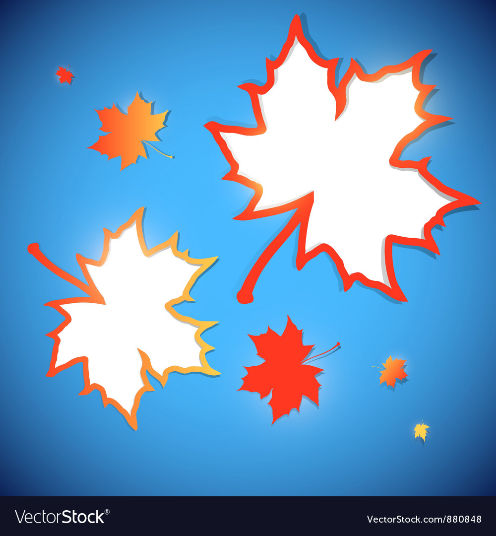 Abstract maple leaves frames vector
