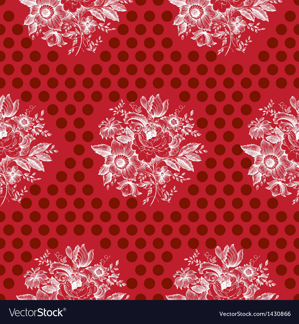 Classic floral seamless pattern vector