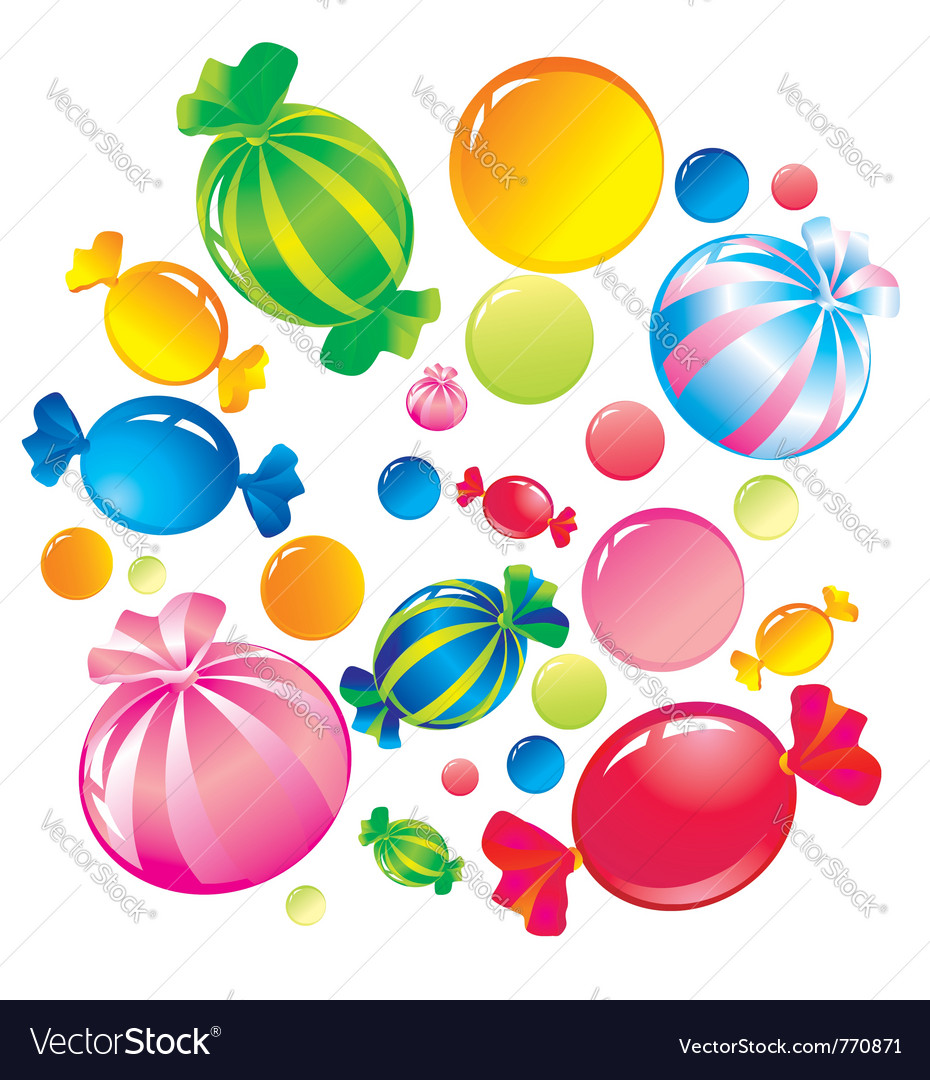 Colorful sweets vector