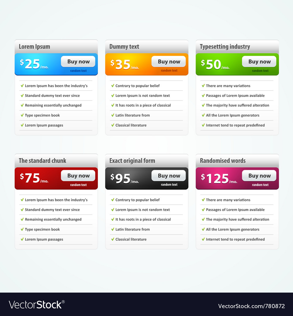 Elements for website vector