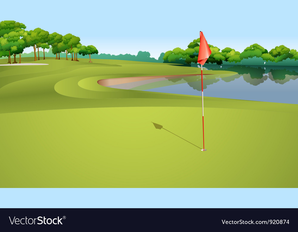Golf course vector