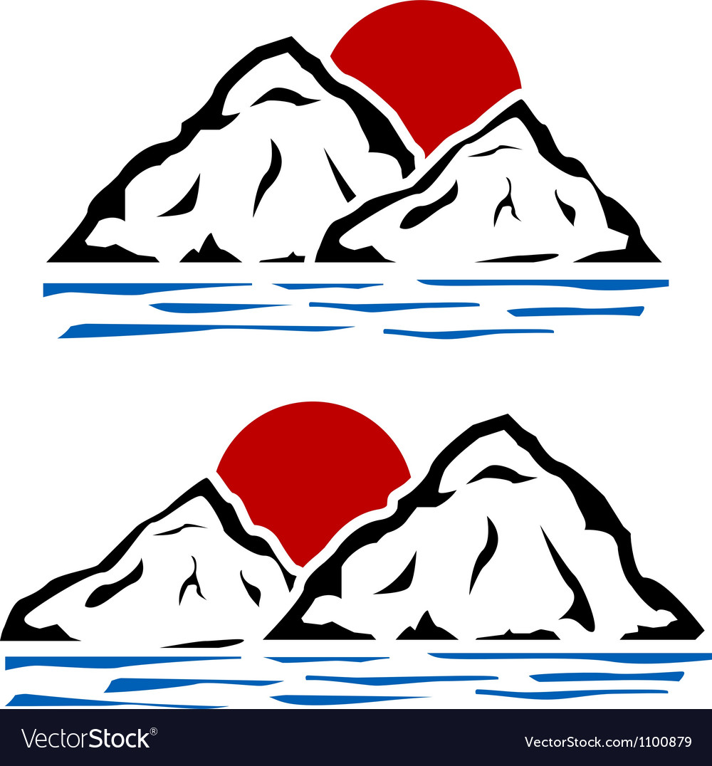 Stencils of mountains vector