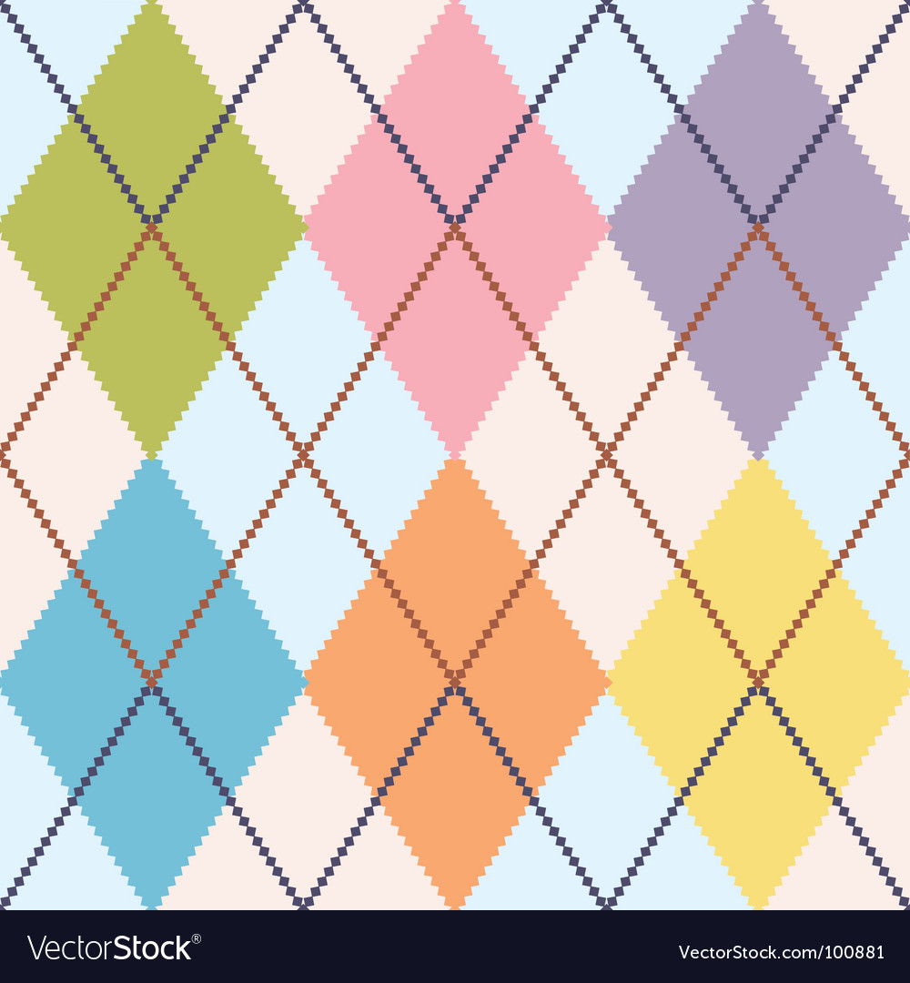 Colorful argyle vector