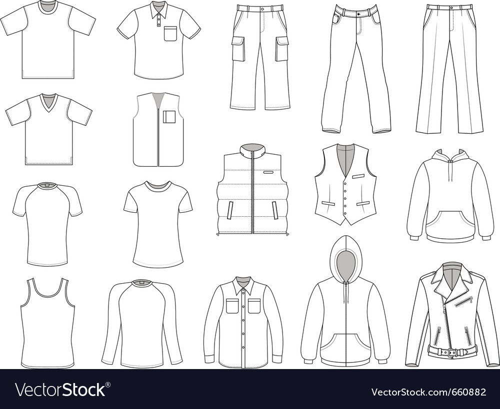 Man clothes collection vector