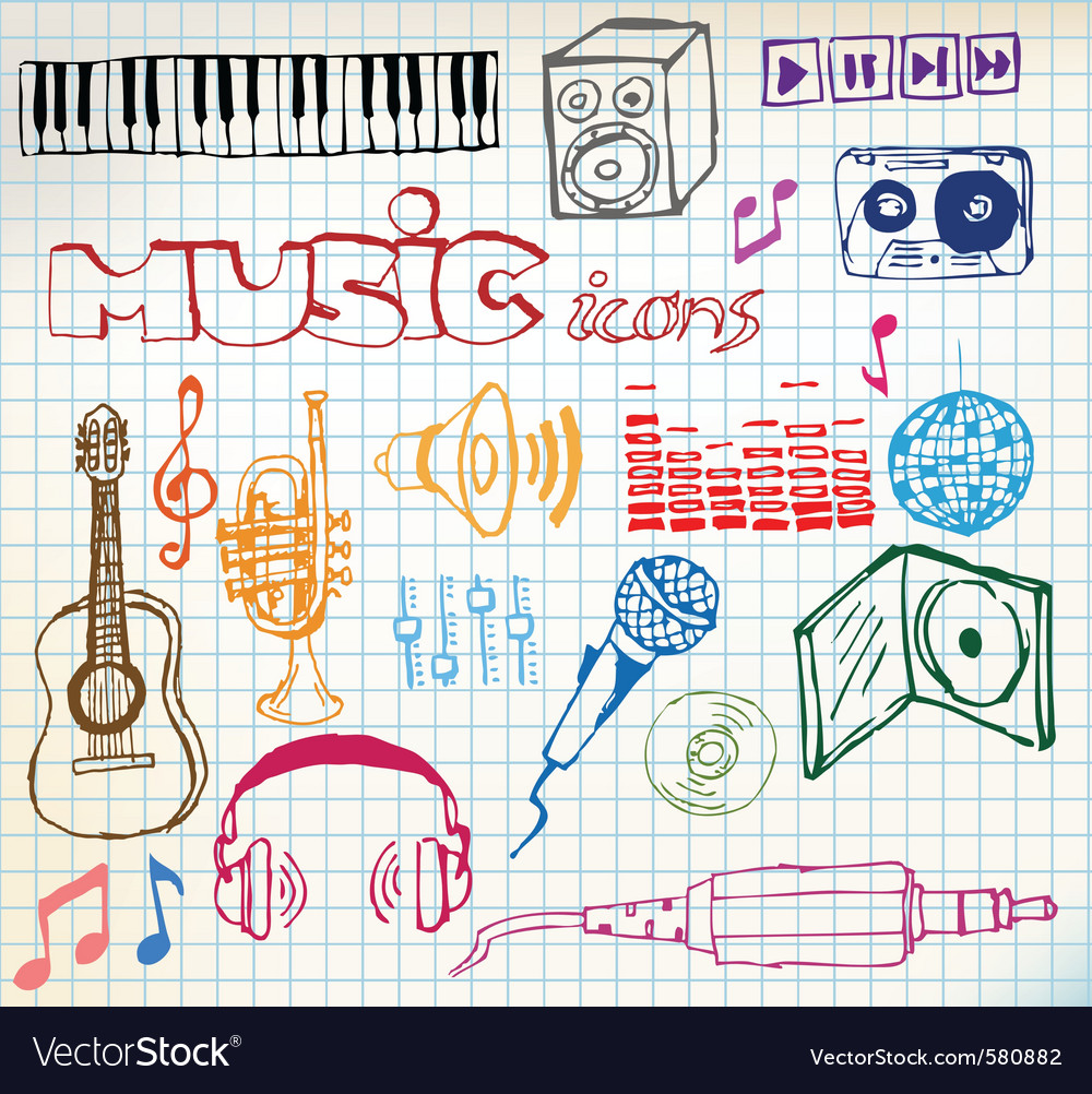 Music sketch vector