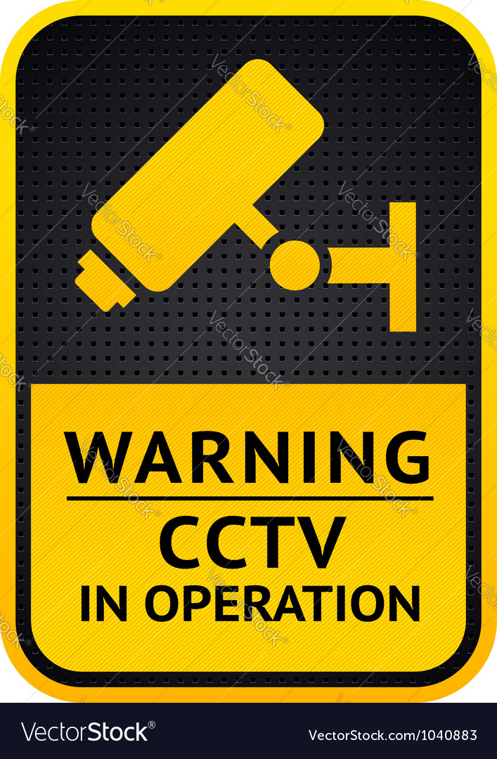 Video surveillance sticker 10eps vector