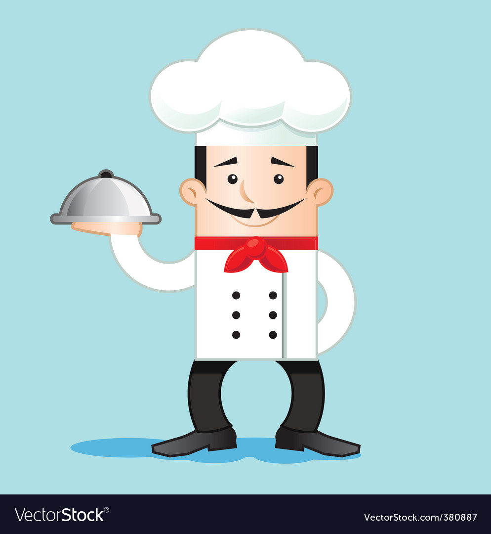 Cartoon of chef vector