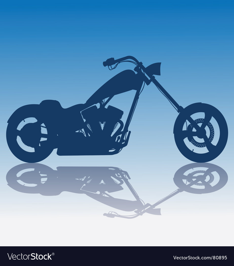 Custom blue chopper vector
