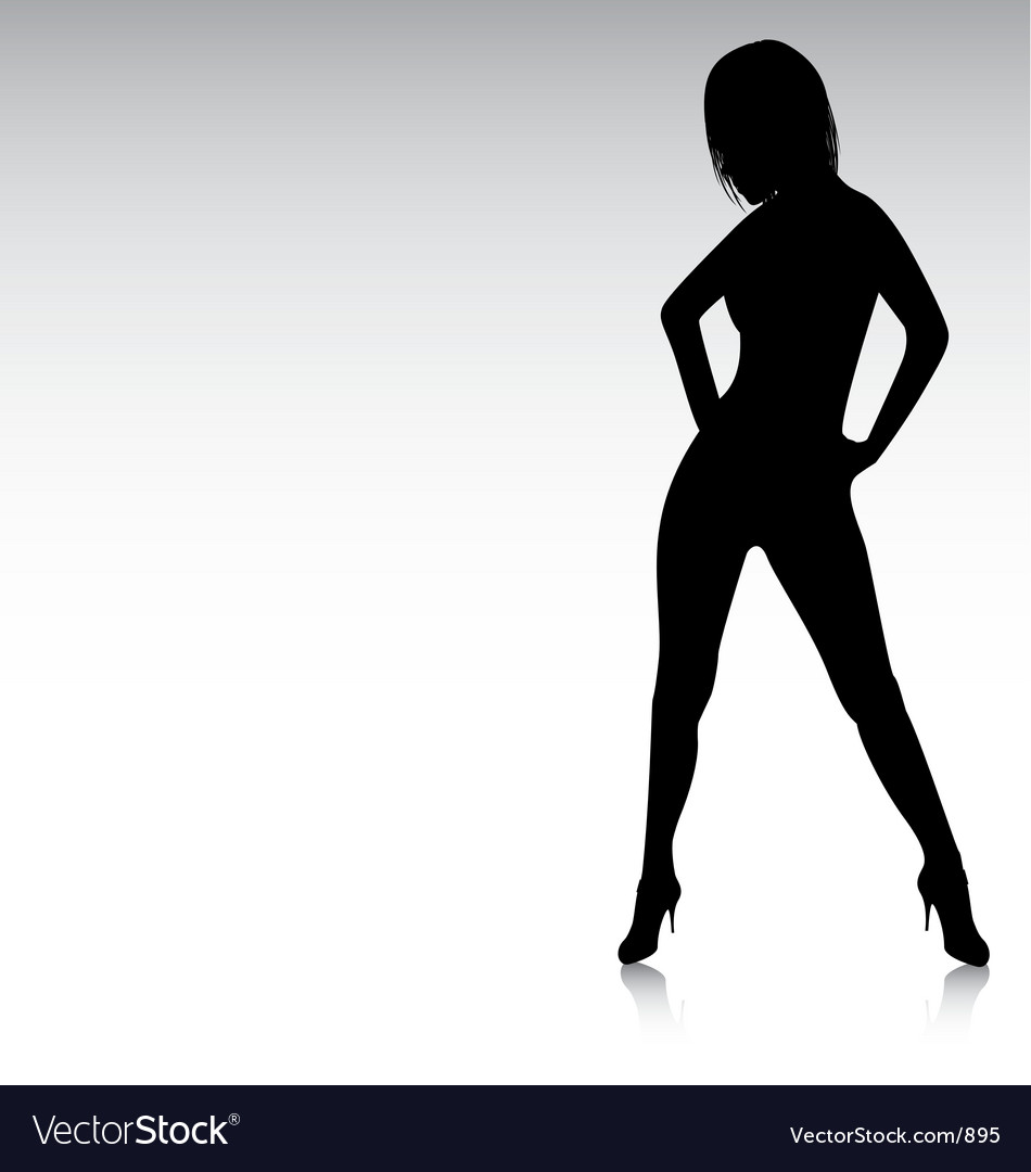 Free sexy silhouette hands on hips vector