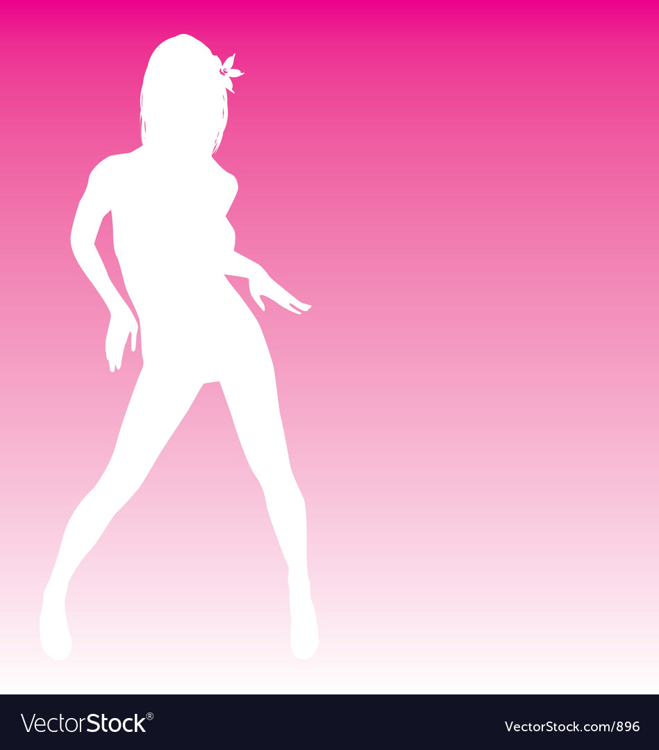 Sexy silhouette tropical dancer