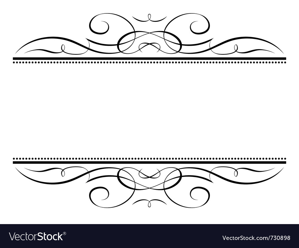 Calligraphy vignette ornamental penmanship decorat vector