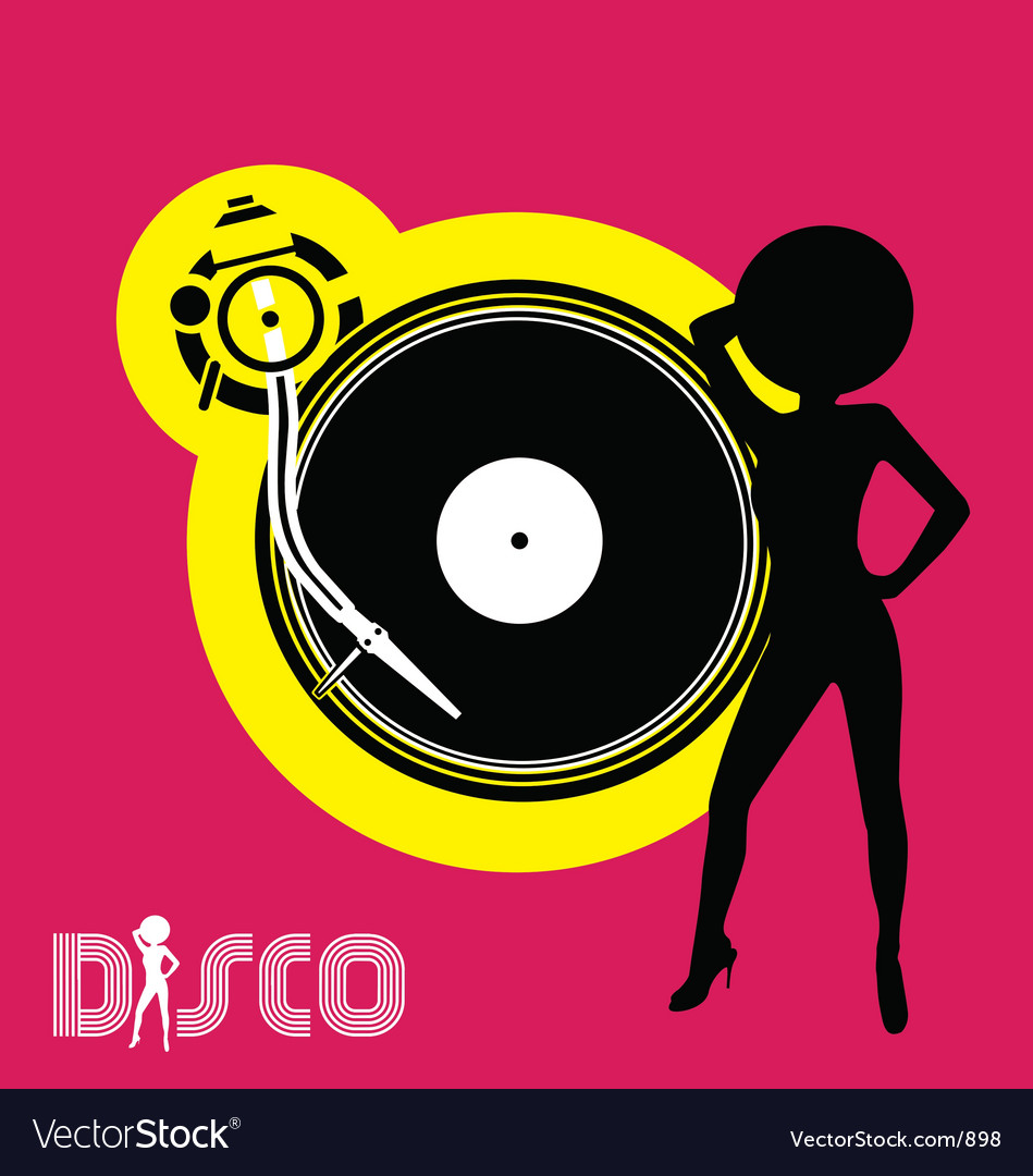 Free disco flyer vector