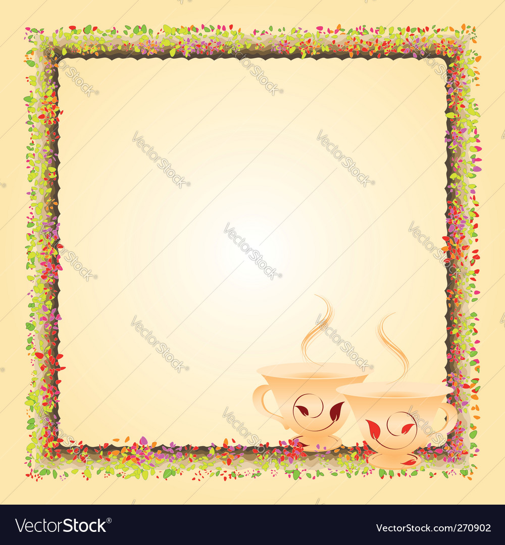Tea time invitation card vector