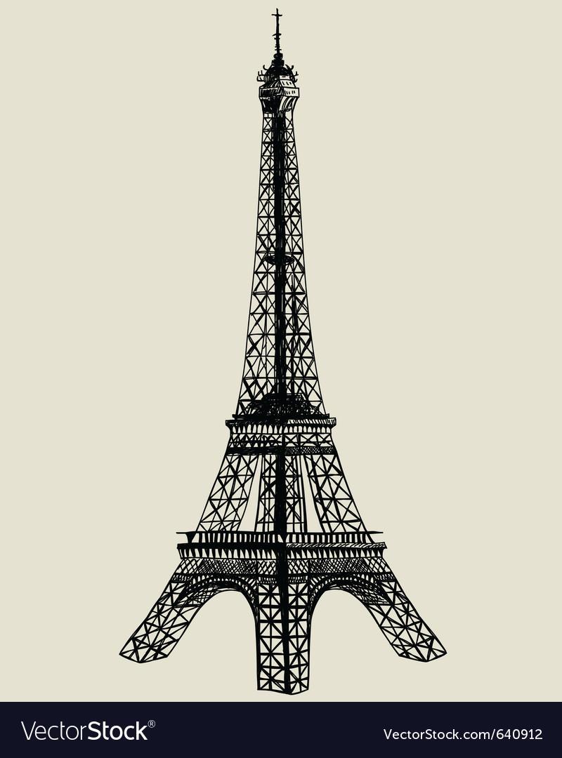 Eiffel tower sk... Vector Free Download Paris