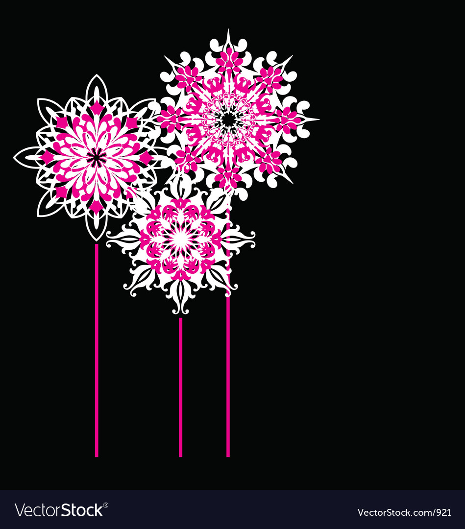 Free ornate flowers vector