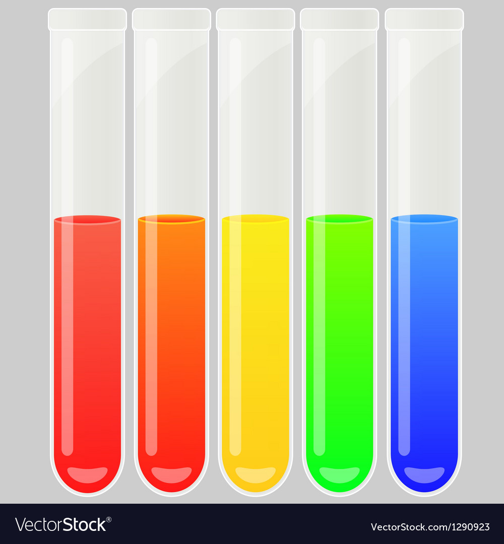 Test tube set vector