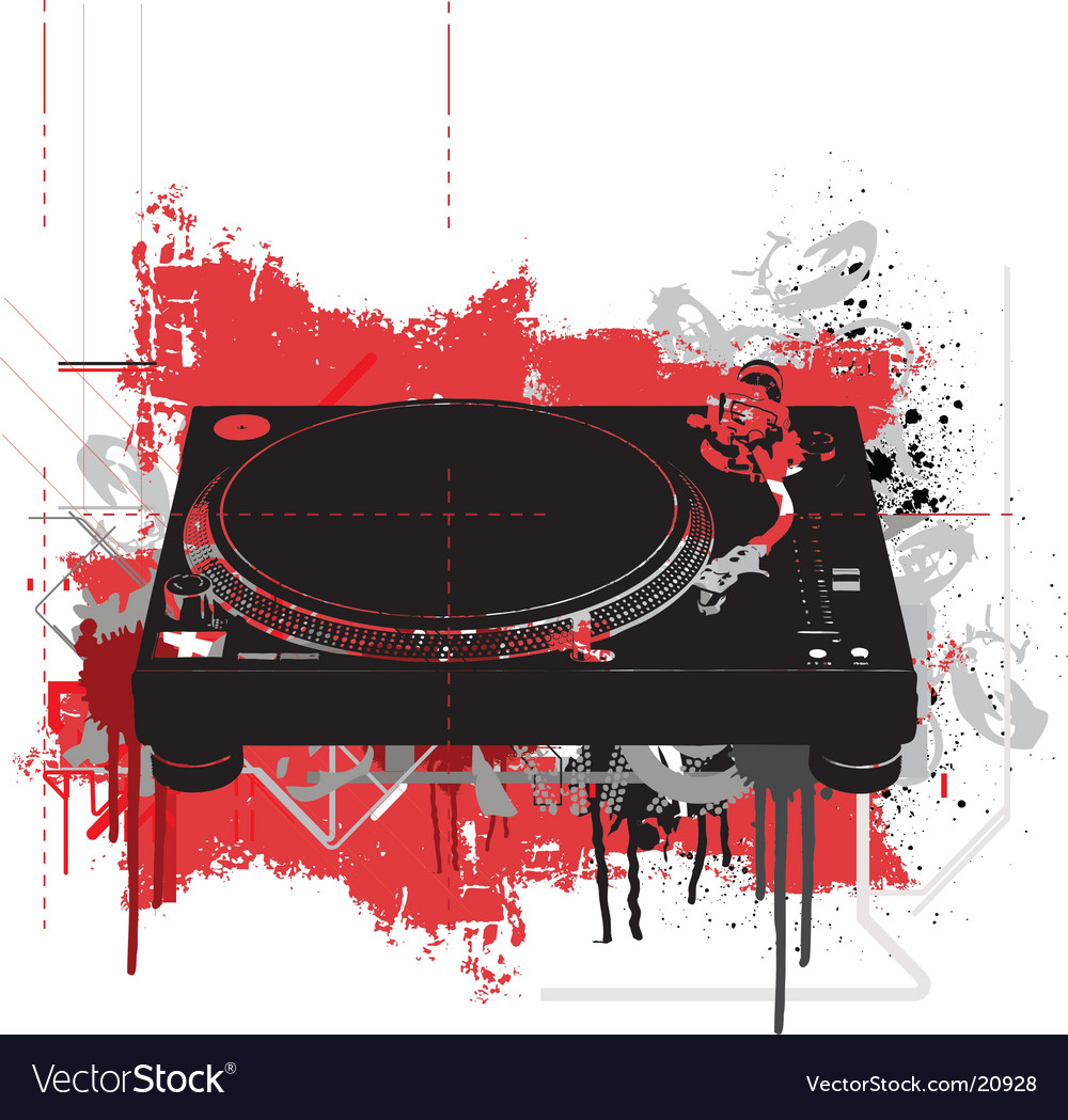 Free turntable vector