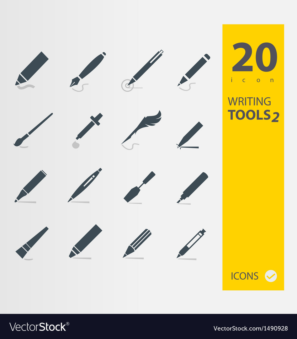 Writing tools 2 vector