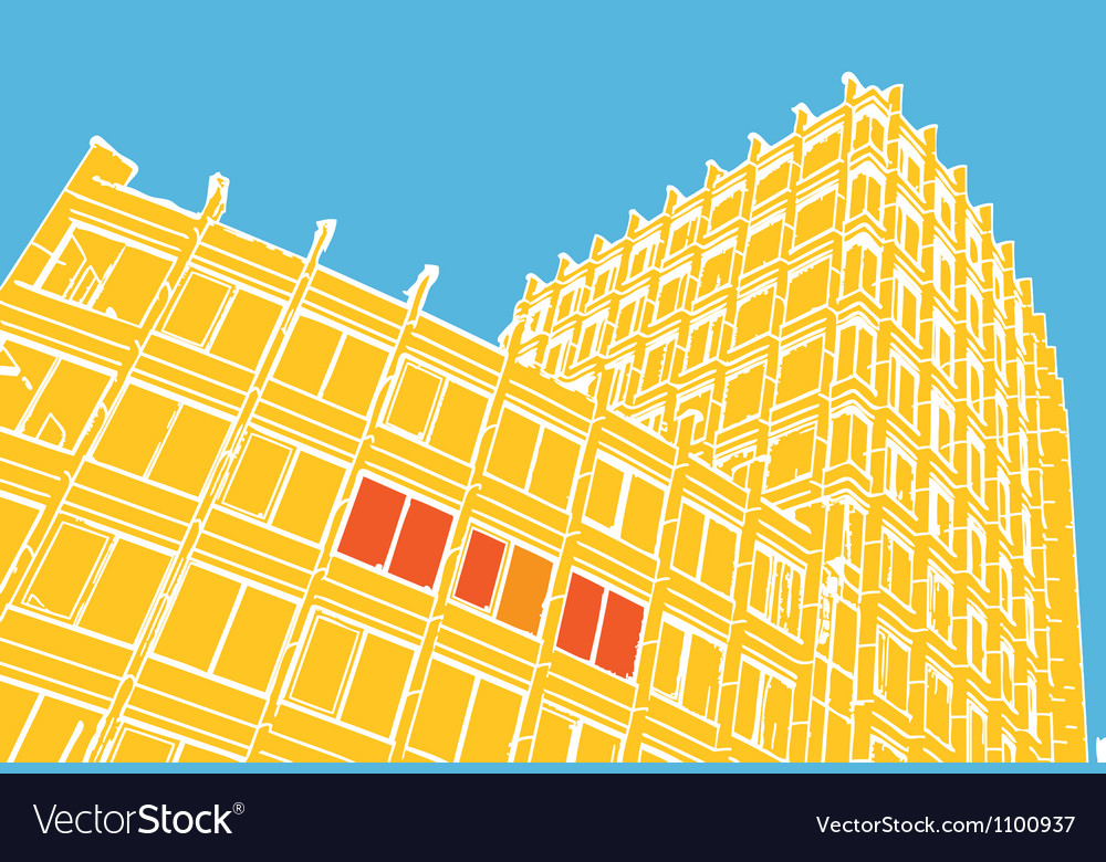 Compositiion of abstract building vector
