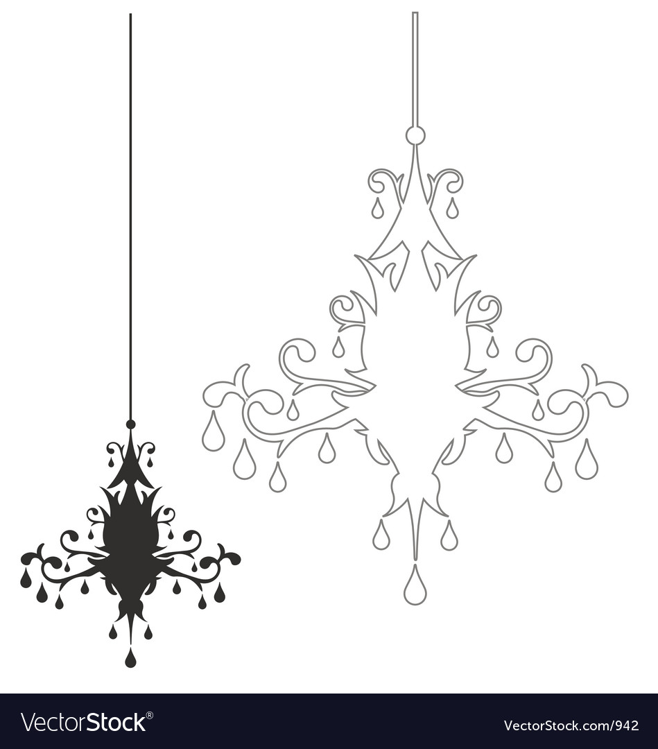 Free simple chandelier vector